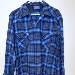 Pendleton Mens Pure Wool High Grade Flannel Shirt